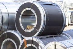 Rolls d'acier galvanisé laminé à froid avec le revêtement en polymère Images stock