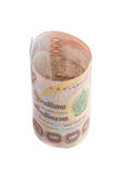 Rolls da cédula da moeda tailandesa Fotografia de Stock