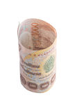 Rolls da cédula da moeda tailandesa Foto de Stock Royalty Free