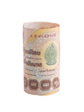 Rolls da cédula da moeda tailandesa Fotografia de Stock Royalty Free