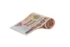 Rolls da cédula da moeda tailandesa Foto de Stock