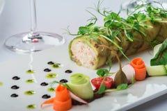 Rolls da carne de caranguejo Imagens de Stock