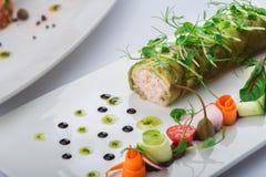 Rolls da carne de caranguejo Imagem de Stock