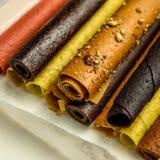 Rolls da pasta saboroso do fruto Fotografia de Stock