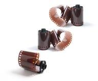 Rolls da película da câmera Fotografia de Stock