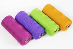 Rolls de corde colorée de polyester Images libres de droits