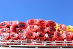 Rolls de corde en plastique Photo stock