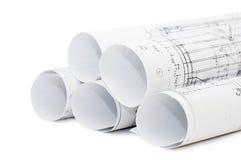 Rolls de desenhos de engenharia Imagens de Stock Royalty Free