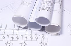 Rolls de diagramas bondes Imagem de Stock Royalty Free