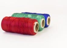 Rolls de fil avec des couleurs de RVB Photo stock
