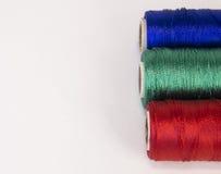 Rolls de fil avec des couleurs de RVB Photographie stock libre de droits