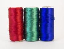 Rolls de fil avec des couleurs de RVB Photo libre de droits