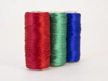 Rolls de fil avec des couleurs de RVB Photos libres de droits