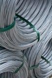 Rolls de fil de zinc photo stock