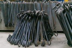 Rolls de la armadura de aluminio del acero de las colocaciones del metal Producción de la industria pesada Planta de la laminació Fotografía de archivo libre de regalías