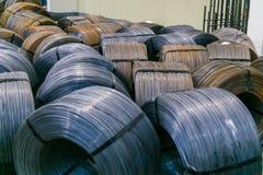 Rolls de la armadura de aluminio del acero de las colocaciones del metal Producción de la industria pesada Planta de la laminació Imagenes de archivo