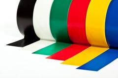 Rolls de la cinta adhesiva del aislante Fotos de archivo libres de regalías