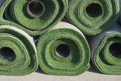 Rolls de la hierba artificial Imagen de archivo libre de regalías