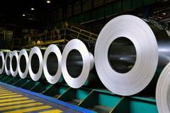 Rolls de la hoja de acero Imagen de archivo libre de regalías