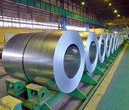 Rolls de la hoja de acero Foto de archivo libre de regalías
