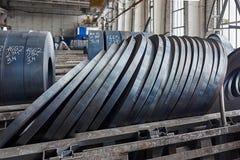 Rolls de la hoja de acero Foto de archivo