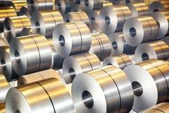 Rolls de la hoja de acero galvanizada Imagenes de archivo