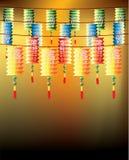 Rolls de lanternas chinesas multi-color Fotos de Stock Royalty Free