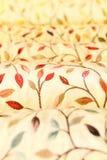 Rolls de las telas de la tapicería y de la cortina Foto de archivo