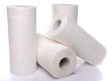 Rolls de las toallas de papel Imágenes de archivo libres de regalías