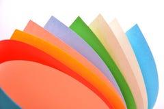Rolls de papier de couleur photo libre de droits