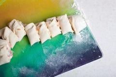 Rolls de pescados rojos Fotos de archivo