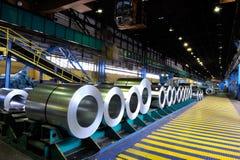 Rolls de tôle d'acier Photos libres de droits