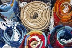 Rolls de tapis Images libres de droits