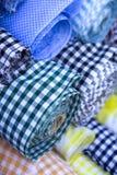 Rolls de tissu Photos libres de droits
