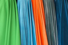 Rolls de tissu de flanelle comme fond de texture images stock