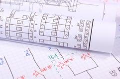 Rolls dei diagrammi elettrici Fotografia Stock
