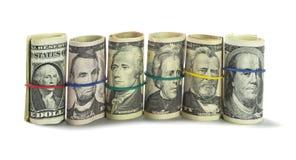Rolls dei dollari americani Fotografia Stock Libera da Diritti