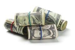 Rolls dei dollari americani Fotografia Stock