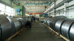 Rolls del aluminio almacen de metraje de vídeo