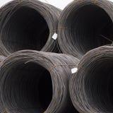 Rolls del cable de acero Imagen de archivo libre de regalías