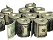 Rolls del dinero Imagen de archivo