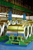 Rolls del piatto d'acciaio Fotografie Stock