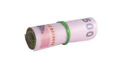 Rolls della banconota di tailandese immagine stock libera da diritti