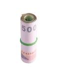 Rolls della banconota di tailandese Immagine Stock