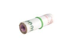 Rolls della banconota di tailandese Fotografia Stock Libera da Diritti