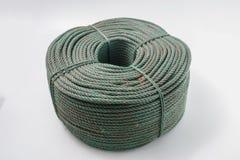Rolls della corda verde del poliestere Immagini Stock