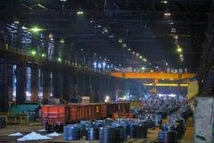 Rolls della lamiera di acciaio Fotografie Stock