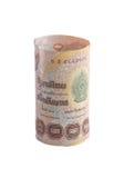 Rolls der Banknote der thailändischen Währung Stockfotografie