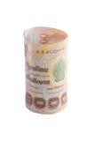 Rolls der Banknote der thailändischen Währung Stockbild