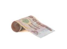 Rolls der Banknote der thailändischen Währung Stockfotos